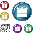 gift box icon with a bow holiday or celebration vector image