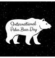 International Polar Bear Day vector image
