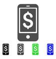 mobile balance icon vector image