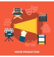 Movie production Flat design vector image
