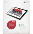 tablet with infographic graph vector image