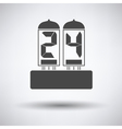 Electric numeral lamp icon vector image