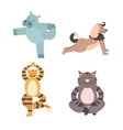 Fun Animals of Yoga Pose vector image