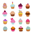 Cupcakes Vanilla chocolate vector image