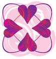 heart shape vector image vector image