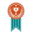winner colorful award badge vector image