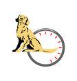Dog Sitting Retro vector image