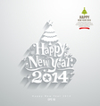 Happy new year lettering paper cut design vector image vector image