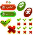 approved and rejected signs vector image vector image