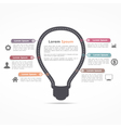 Infographics Template with Light Bulb vector image
