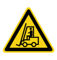 Forklift truck sign vector image