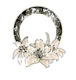 floral frame with lilies vector image