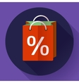 shopping bag Icon Flat design style vector image