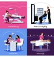 Beauty Salon People Concept vector image