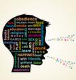 Child head profile silhouette vector image
