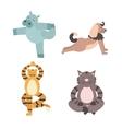 Fun Animals of Yoga Pose vector image