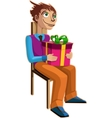 man with present vector image