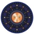 Night mandala vector image