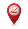 NO smoking RED pointer vector image