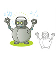 Robot with Headphones vector image