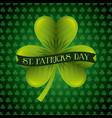 st patricks day card green clover banner vector image