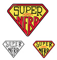 super nerd T-shirt design template vector image