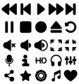 Media player icons set vector image vector image