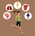 woman sports training healthy vector image