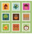 nature stamps vector image vector image