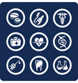 medicine and health icons vector image