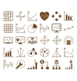 Dotted Charts Icons vector image