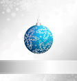 christmas event card vector image