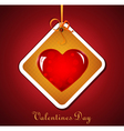 valentines heart tag vector image vector image
