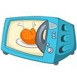 cartoon home kitchen microwave vector image