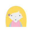 beauty girl with hairstyle to kawaii avatar vector image