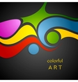 Colorful wavy pattern on black background vector image