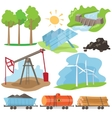 Eco Energy Design Concept Set vector image