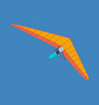 hang glider man hovering in air on this vehicle vector image