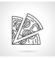 Pizza black line icon vector image