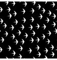 Swallow bird seamless pattern on a black vector image