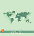 world map background with long shadow and flat vector image