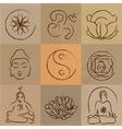 yoga set vector image