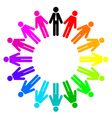 colorful peoples employees and manager vector image