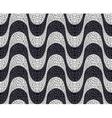 Wave pavement pattern vector image