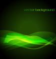 green glowing stylish wave vector image
