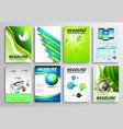 Set of Flyer Design Infographic layout Brochure vector image