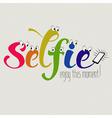 funny selfie vector image vector image