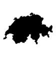 black silhouette country borders map of vector image