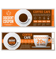 Coffee discount coupon or gift voucher vector image