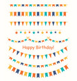 multicolored bright buntings garlands vector image